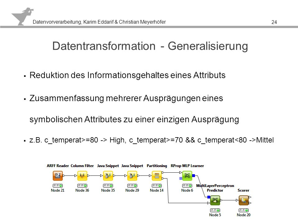 Datentransformation - Generalisierung