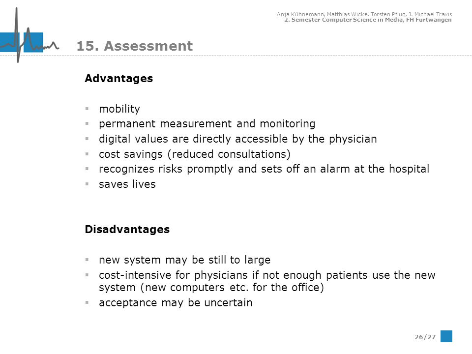 15. Assessment Advantages mobility