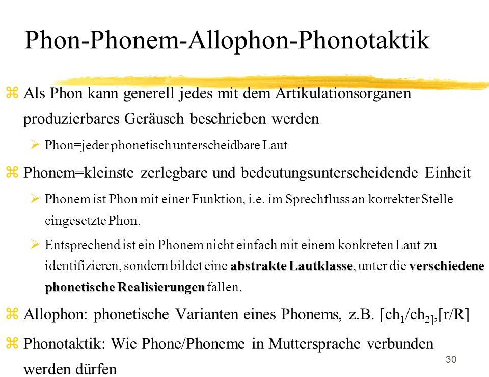 Phon-Phonem-Allophon-Phonotaktik