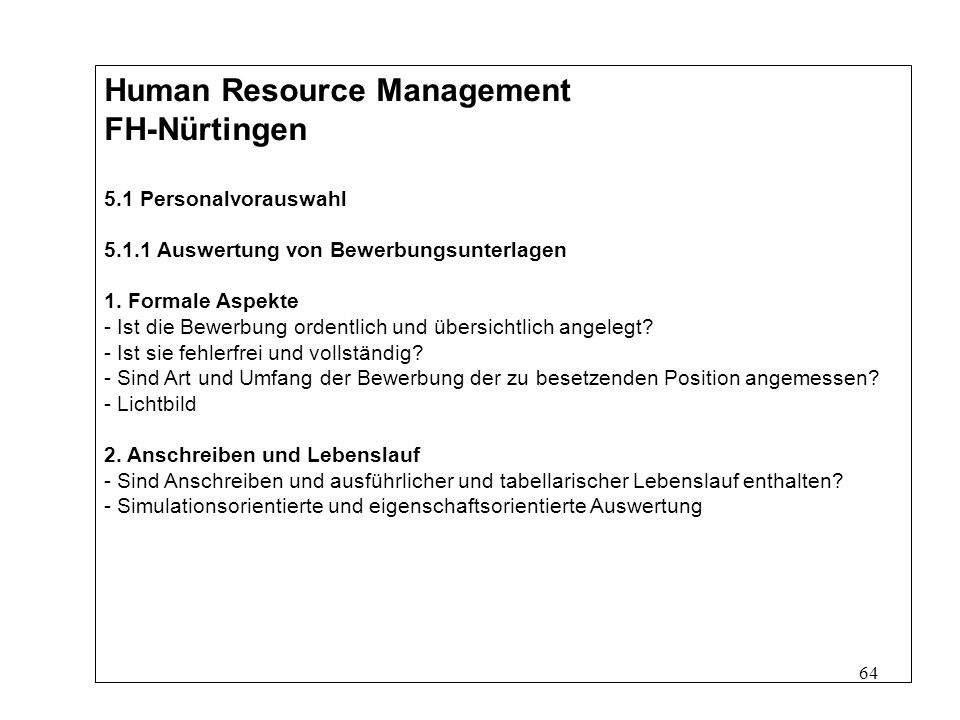 Masterstudiengang Internationales Management Human Resource ...
