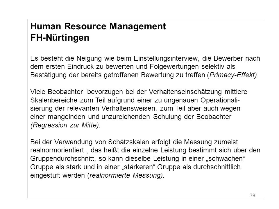Human Resource Management FH-Nürtingen