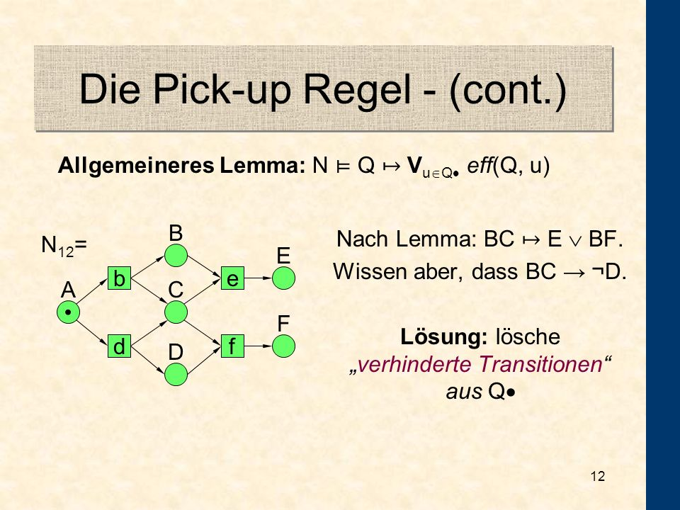 Die Pick-up Regel - (cont.)