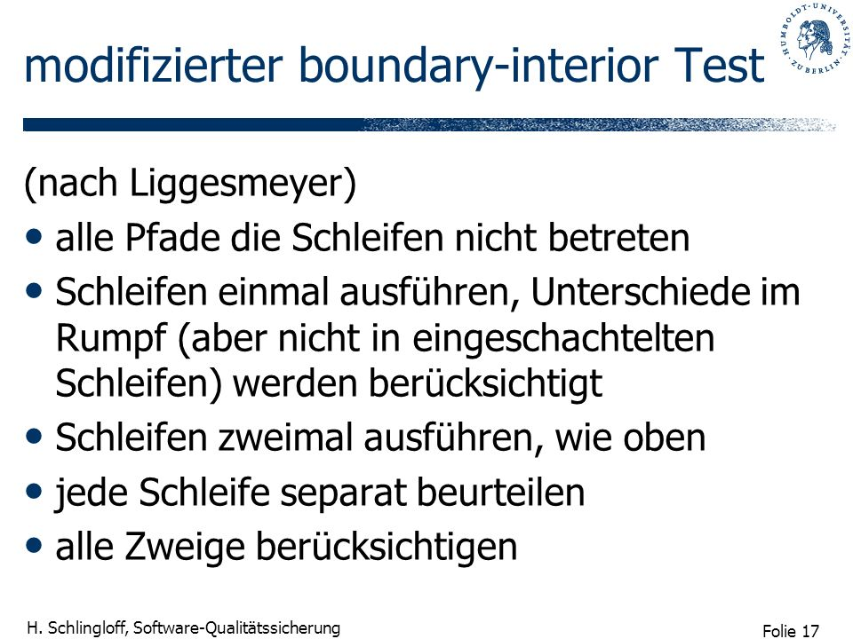 modifizierter boundary-interior Test