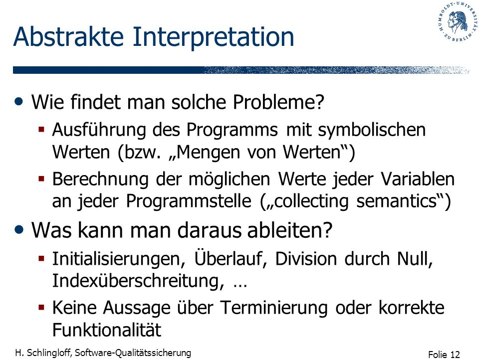 Abstrakte Interpretation