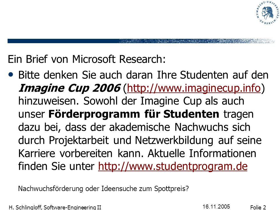 Ein Brief von Microsoft Research: