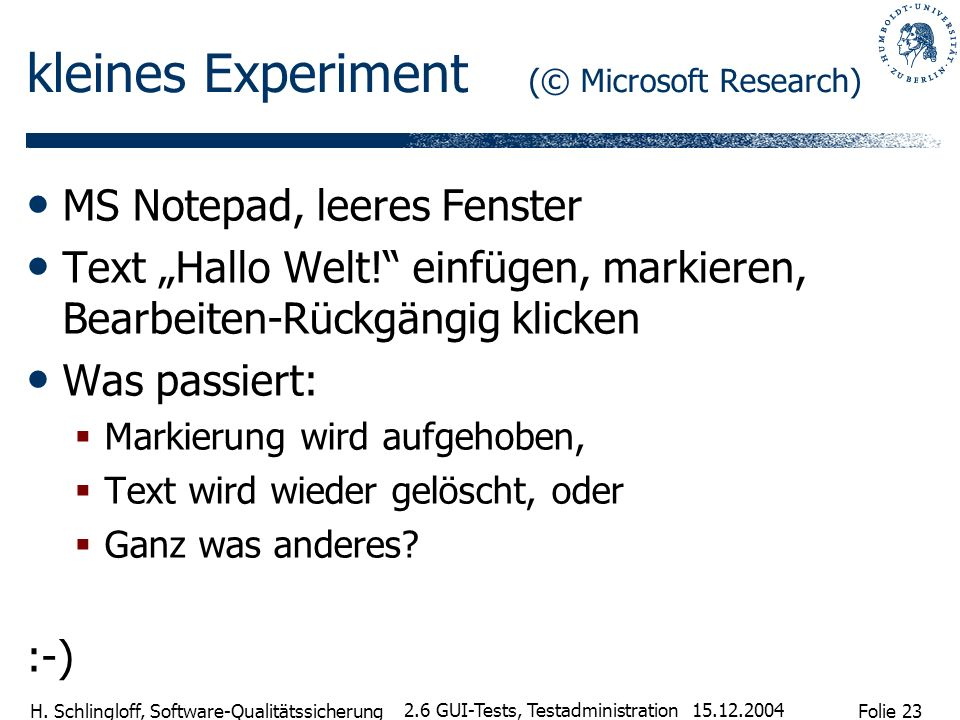kleines Experiment (© Microsoft Research)