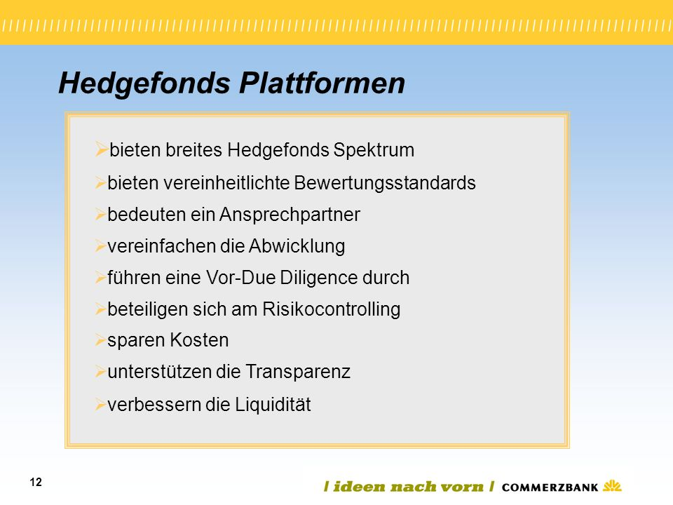Hedgefonds Plattformen