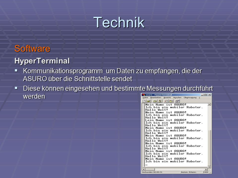 Technik Software HyperTerminal