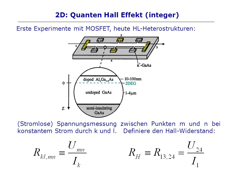 2D: Quanten Hall Effekt (integer)