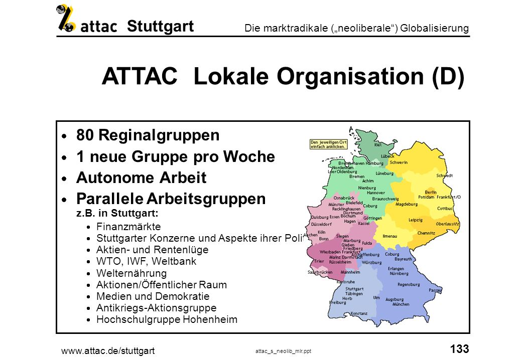 ATTAC Lokale Organisation (D)