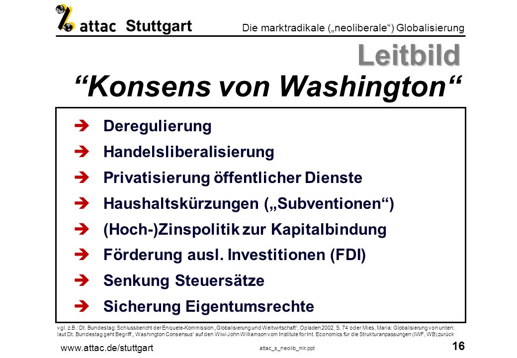 Leitbild Konsens von Washington