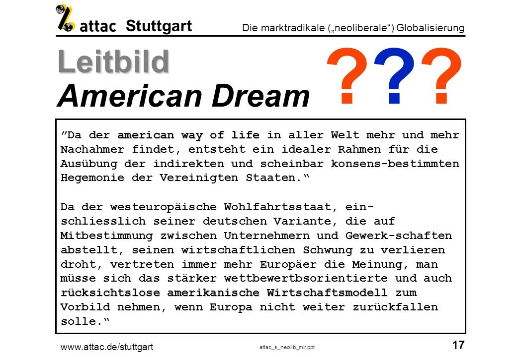 Leitbild American Dream