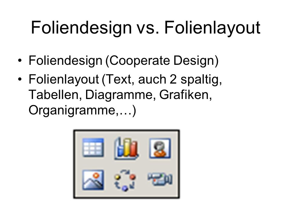 Foliendesign vs. Folienlayout