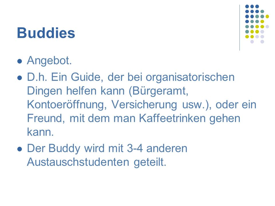 Buddies Angebot.