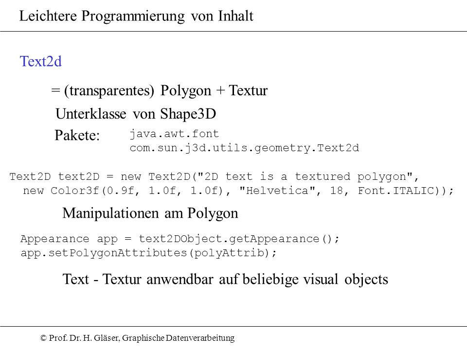 = (transparentes) Polygon + Textur