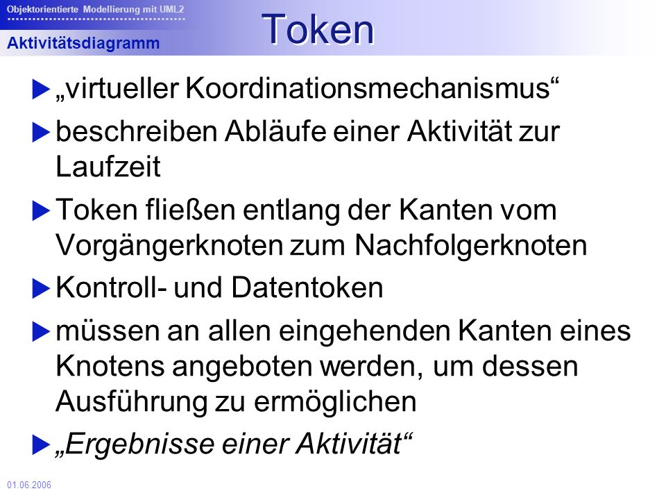 "Token ""virtueller Koordinationsmechanismus"
