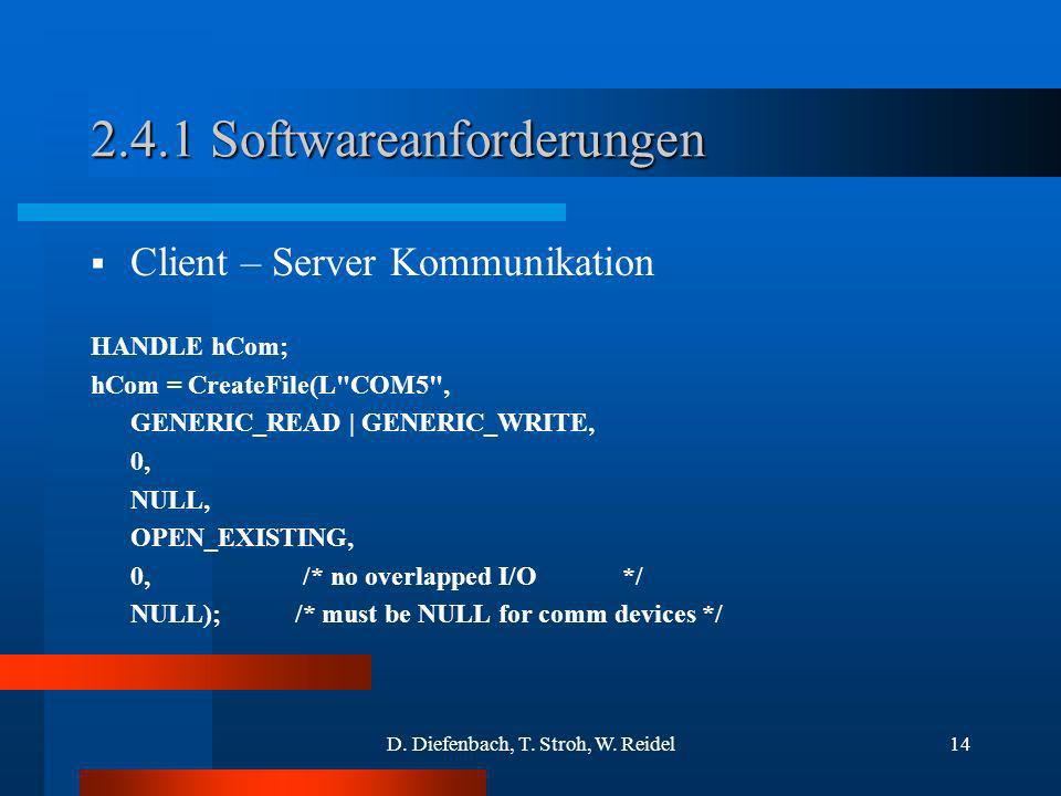 2.4.1 Softwareanforderungen