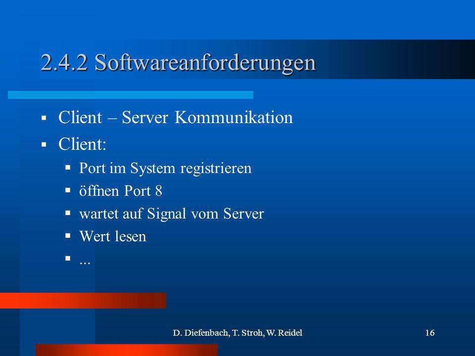 2.4.2 Softwareanforderungen