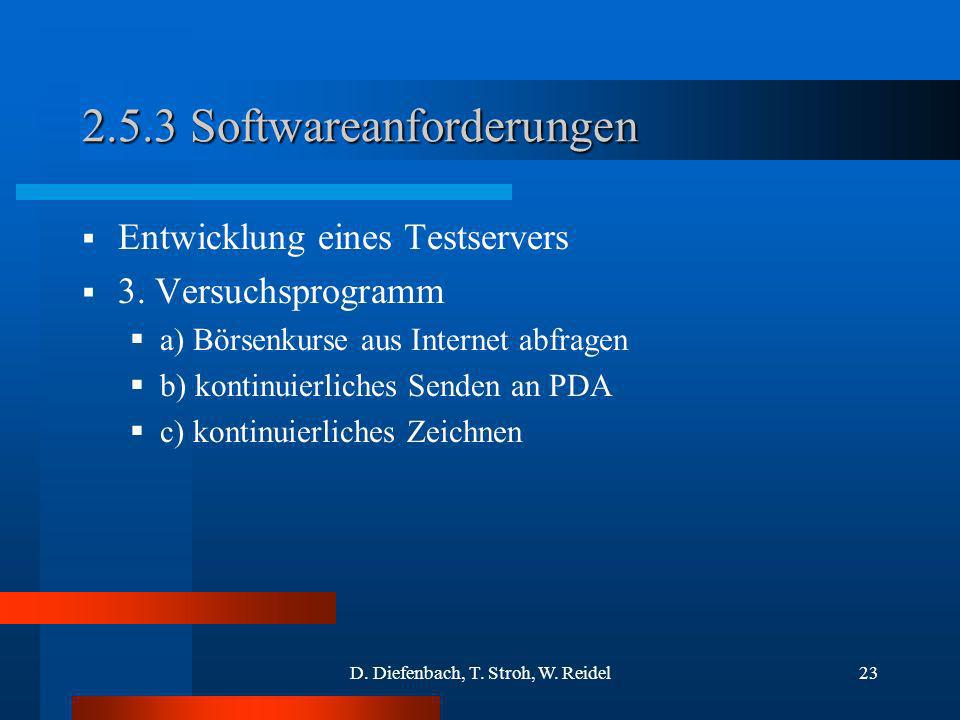 2.5.3 Softwareanforderungen