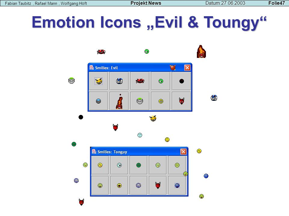"Emotion Icons ""Evil & Toungy"