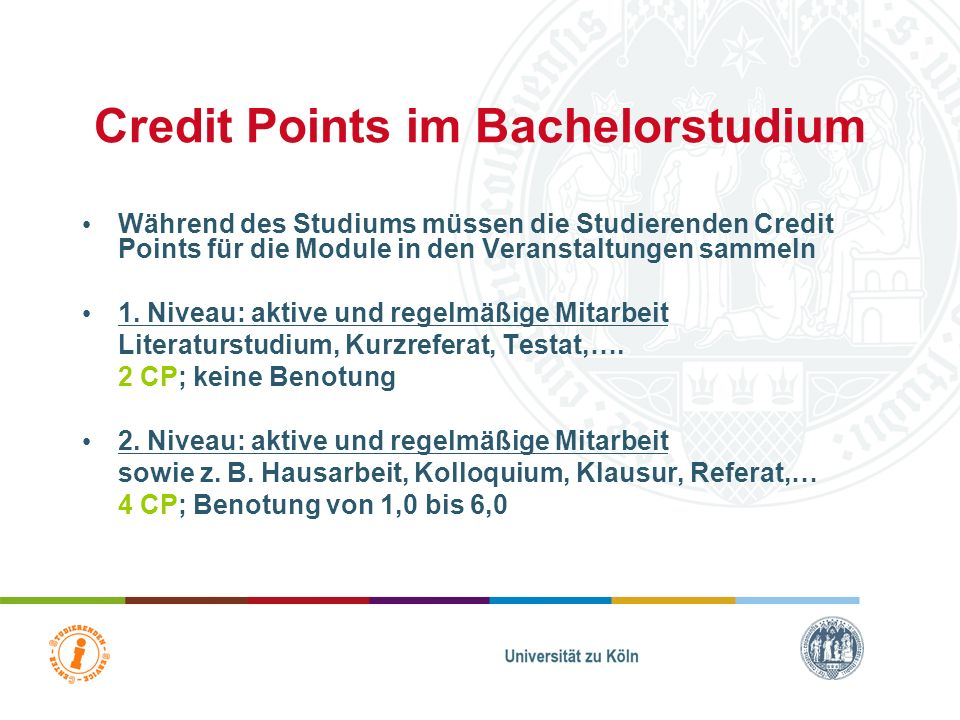 Credit Points im Bachelorstudium