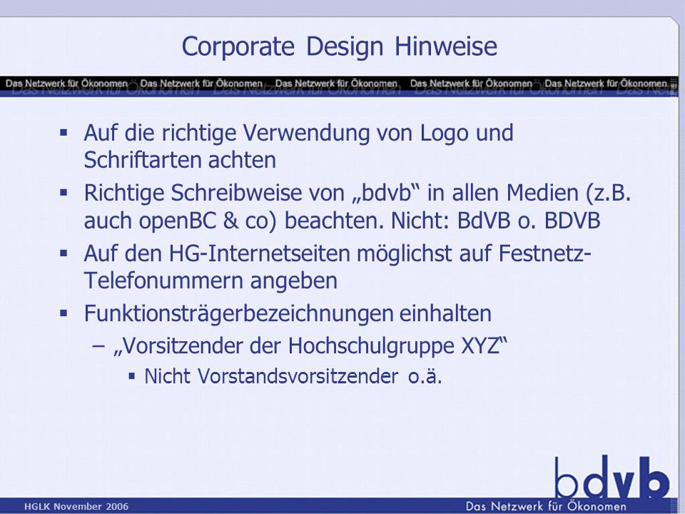 Corporate Design Hinweise