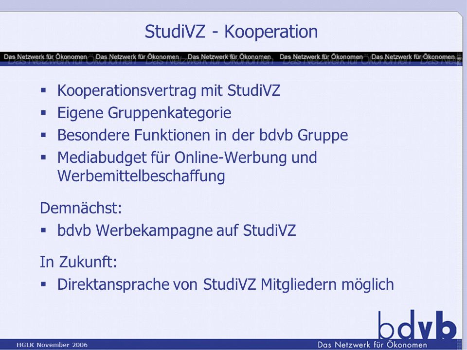 StudiVZ - Kooperation Kooperationsvertrag mit StudiVZ