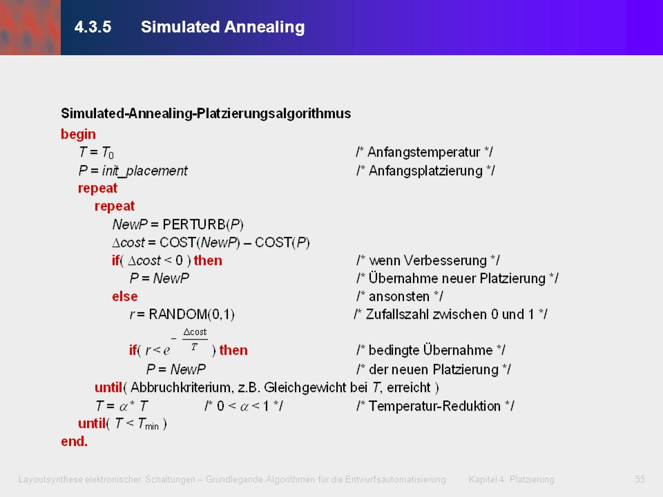 4.3.5 Simulated Annealing