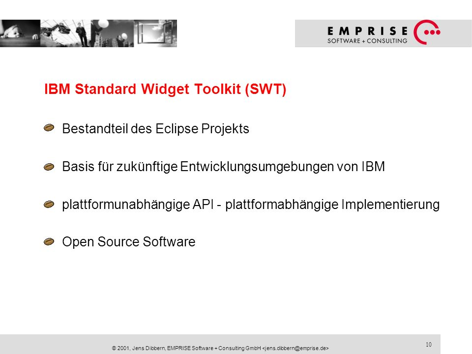 IBM Standard Widget Toolkit (SWT)