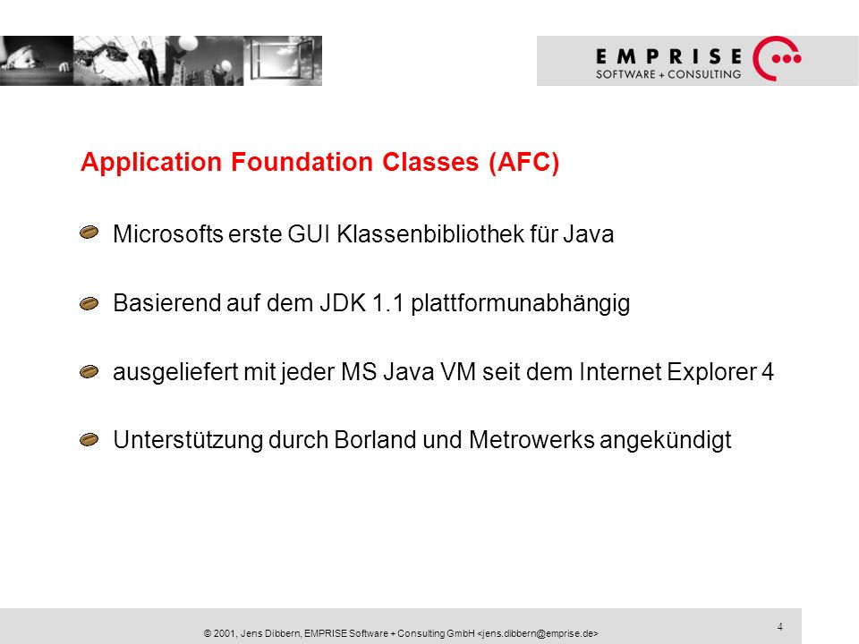 Application Foundation Classes (AFC)