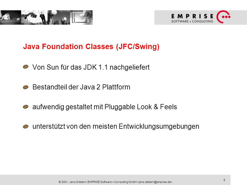 Java Foundation Classes (JFC/Swing)