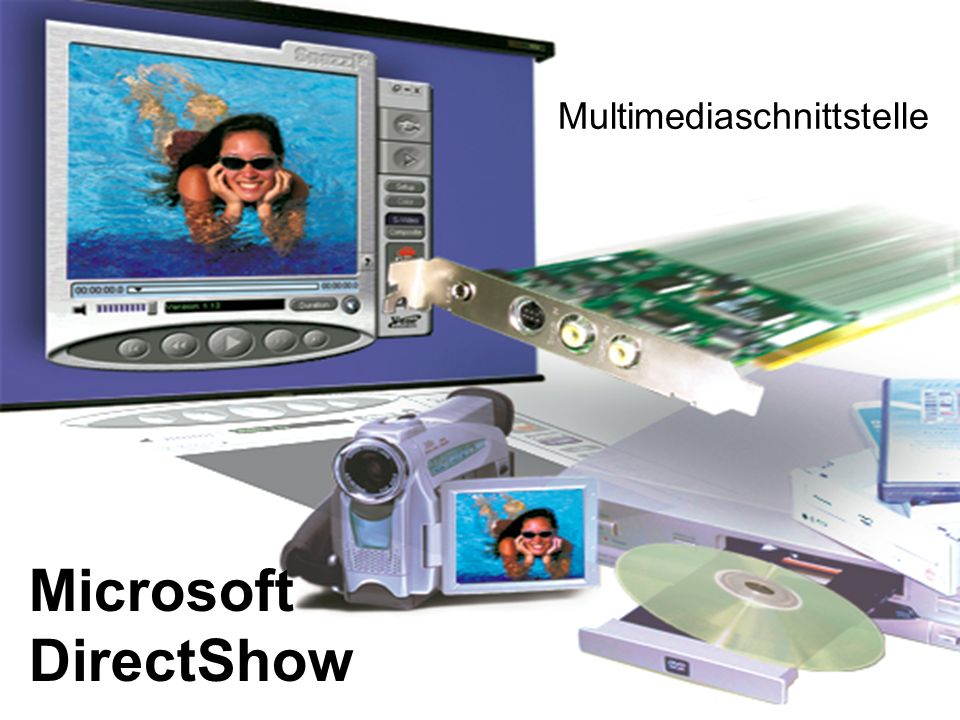 Microsoft DirectShow Multimediaschnittstelle Video DVD MP3 Song
