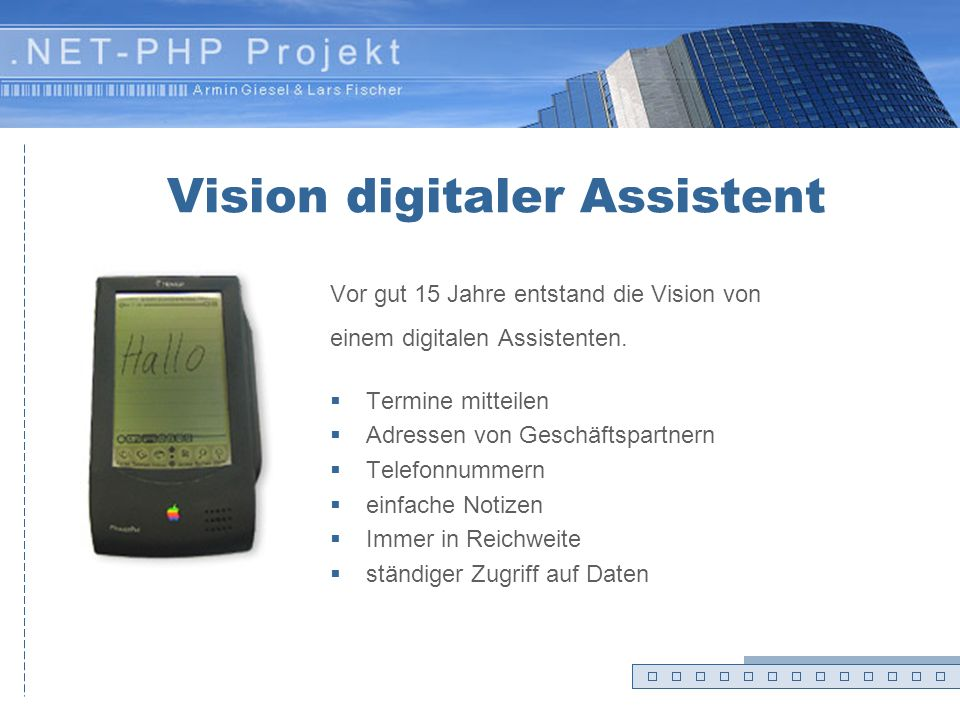 Vision digitaler Assistent