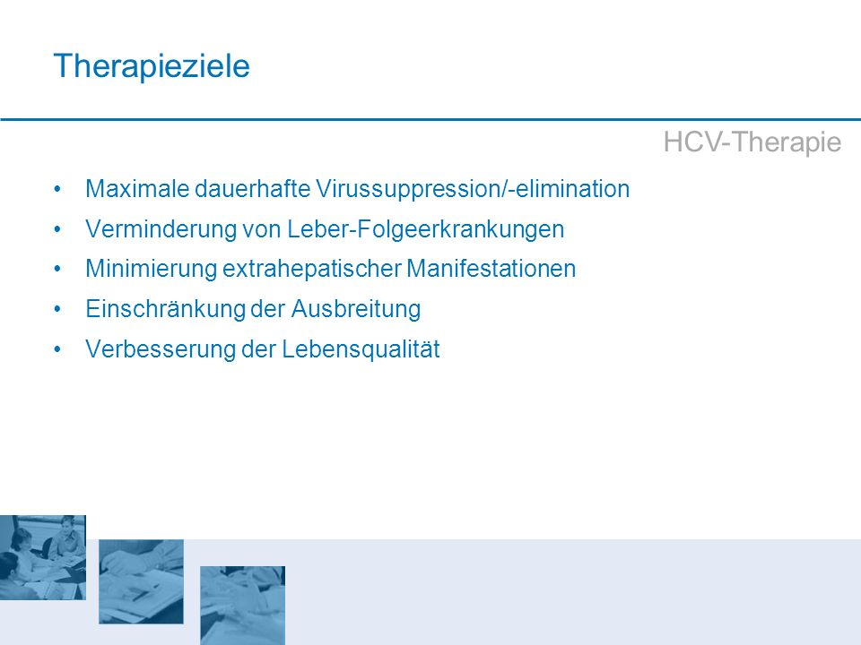 Therapieziele HCV-Therapie