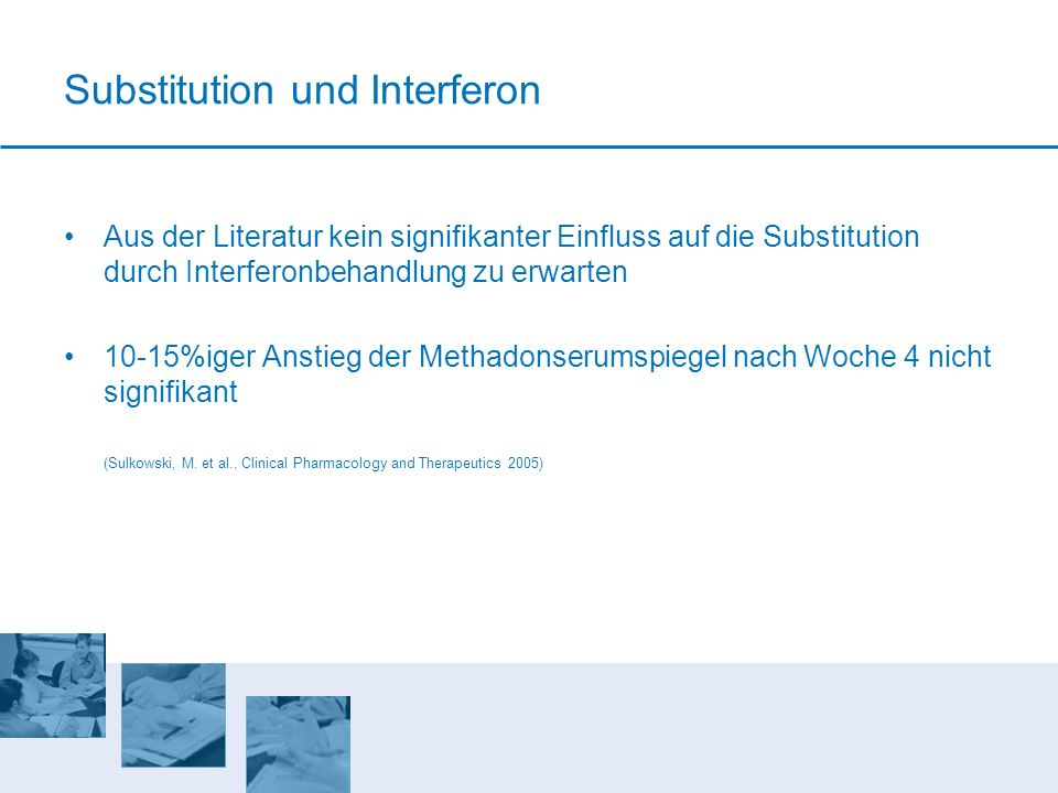 Substitution und Interferon
