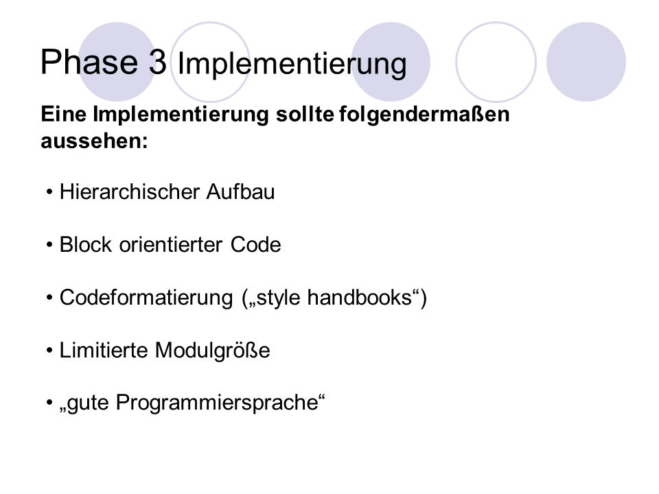 Phase 3 Implementierung