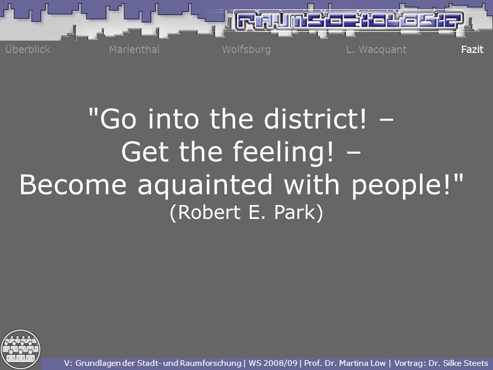 Become aquainted with people!