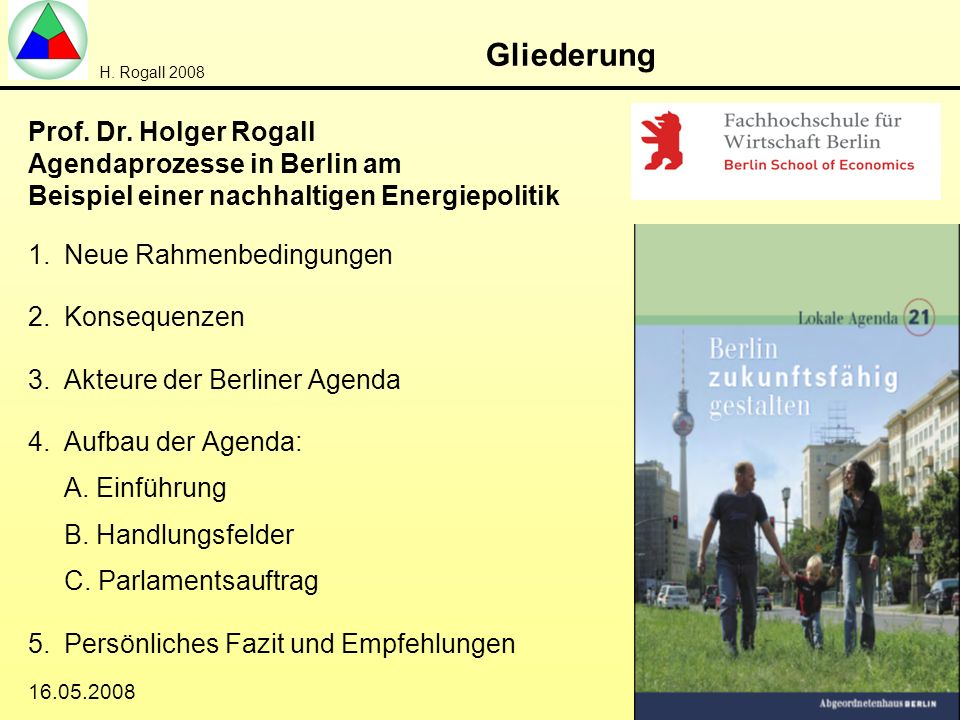 Gliederung Prof. Dr. Holger Rogall