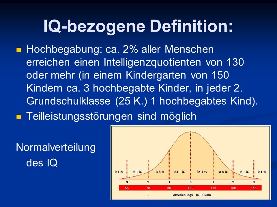 IQ-bezogene Definition: