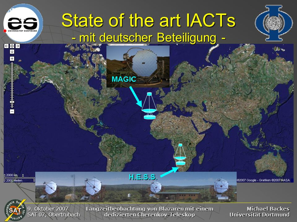 State of the art IACTs - mit deutscher Beteiligung -