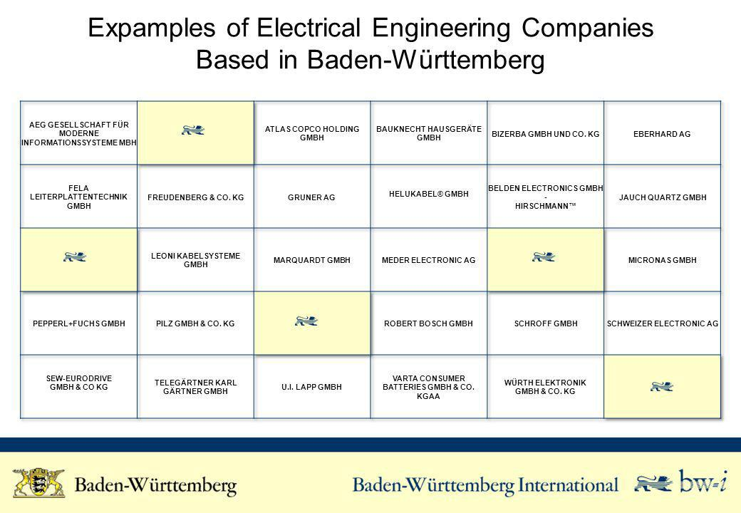 Expamples of Electrical Engineering Companies Based in Baden-Württemberg