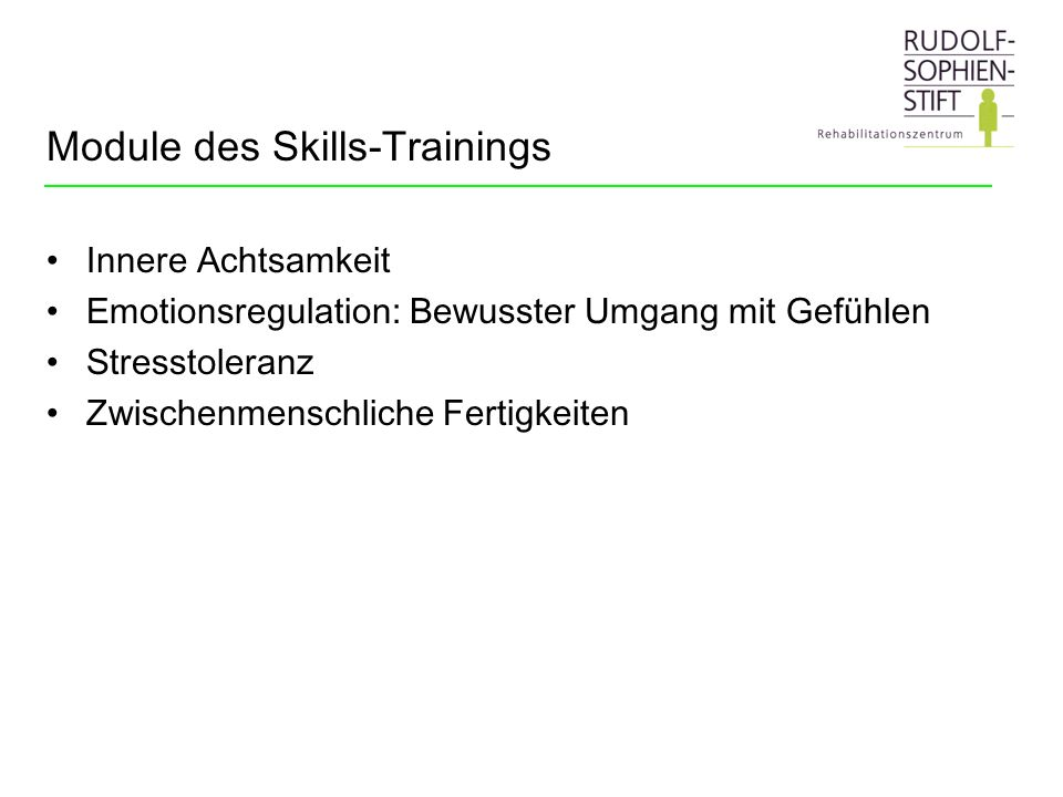 Module des Skills-Trainings
