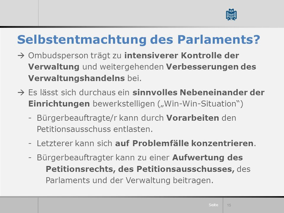 Selbstentmachtung des Parlaments