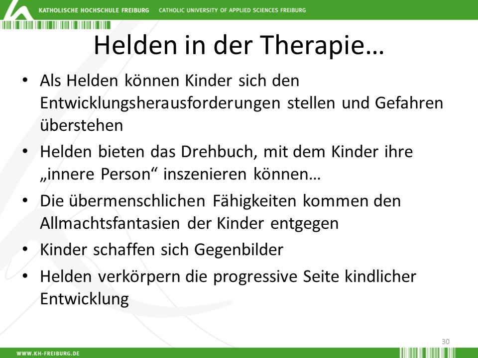 Helden in der Therapie…