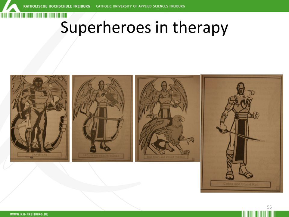 Superheroes in therapy