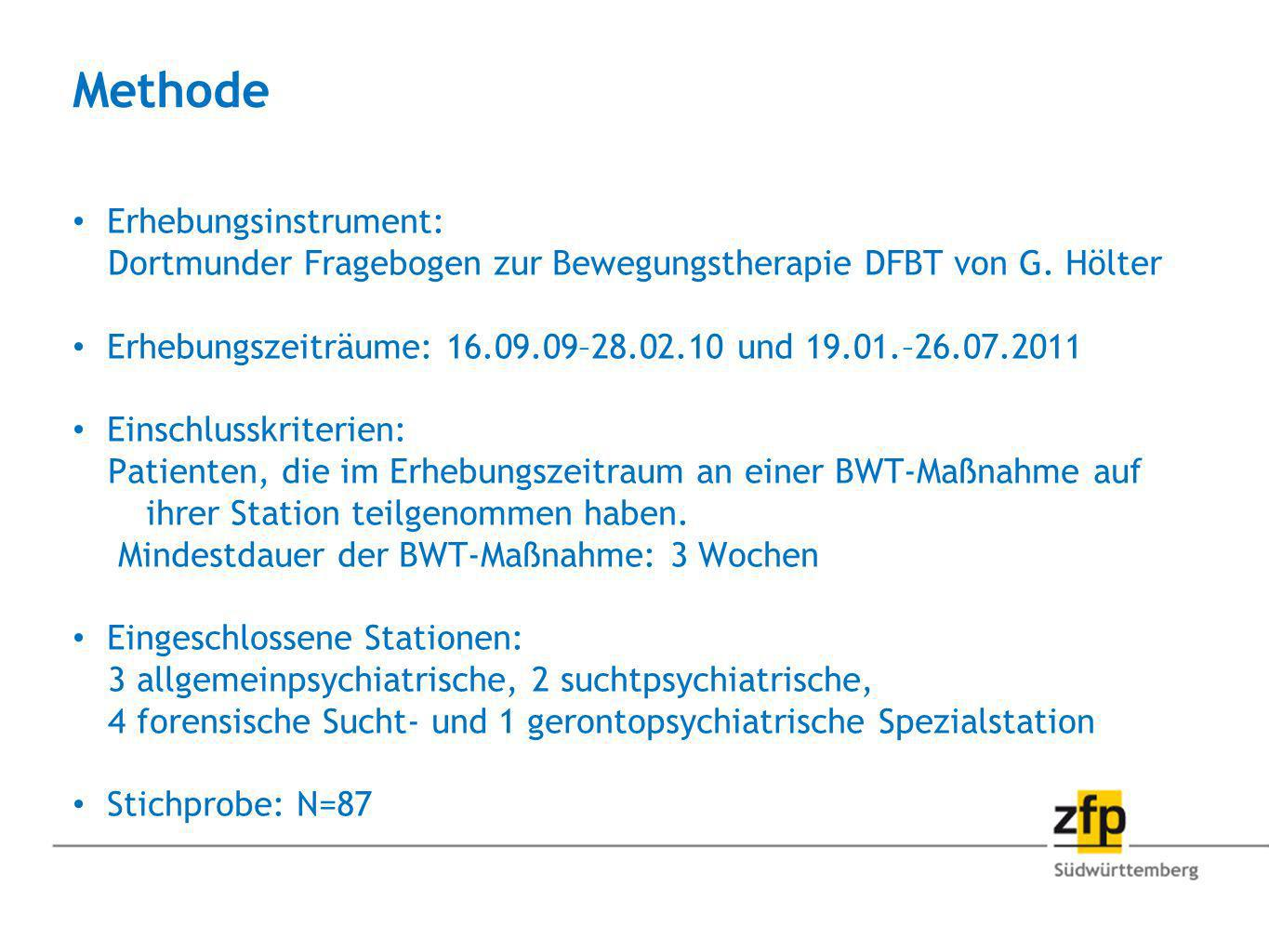Methode Erhebungsinstrument: