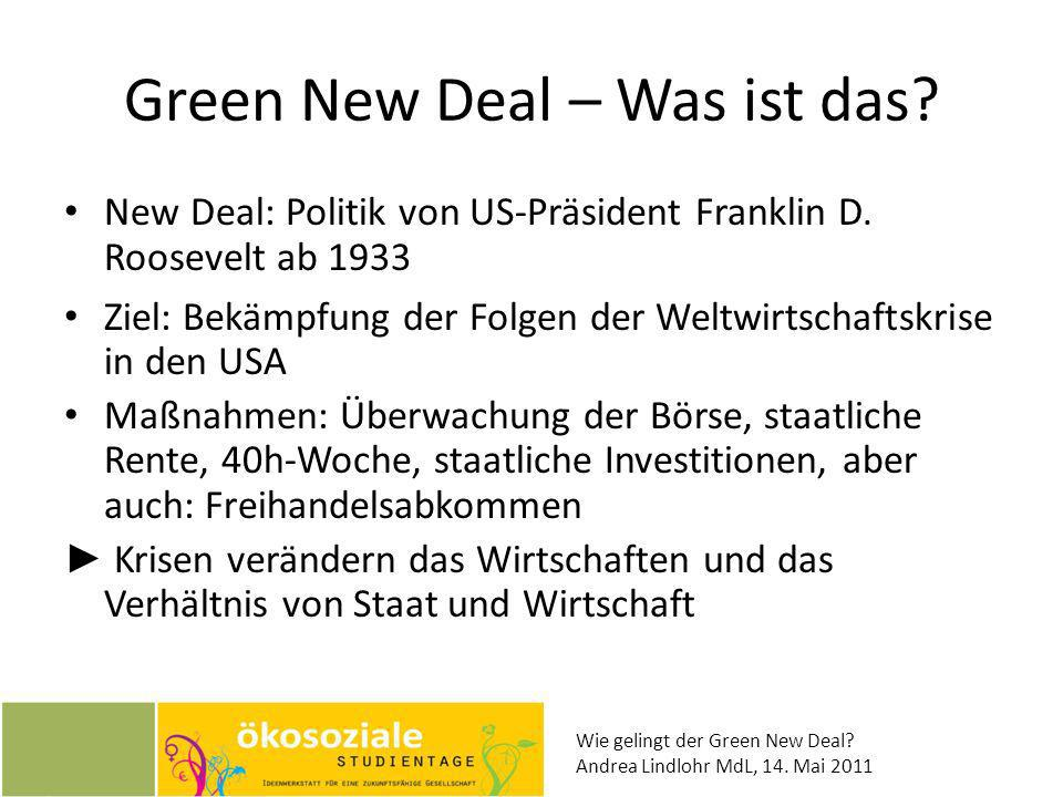 Green New Deal – Was ist das