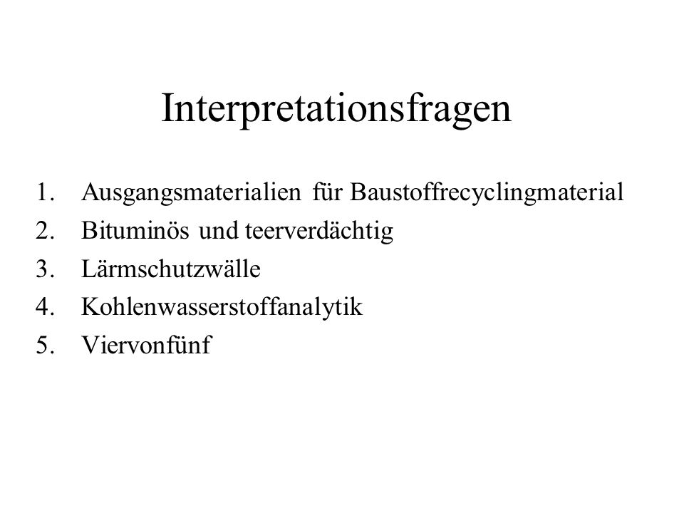 Interpretationsfragen