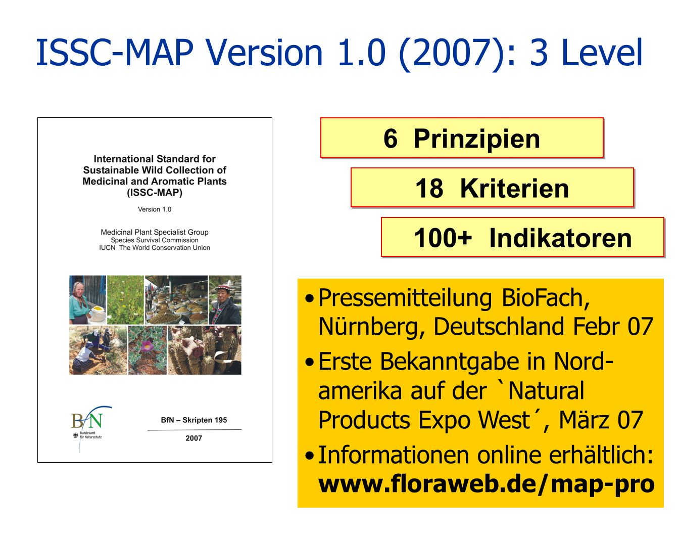 ISSC-MAP Version 1.0 (2007): 3 Level