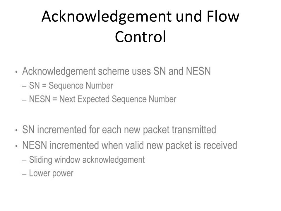 Acknowledgement und Flow Control